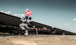 Coal train in rural Australia