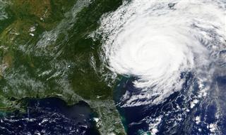 Hurricane Florence makes landfall in September 2018.