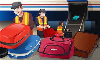 Airport workers
