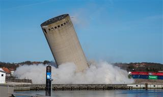 Demolition of vacant silo in Vordingborg Denmark becomes a towering bungle Guardian