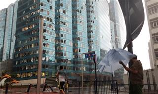 Typhoon Mangkhut damage in Hong Kong