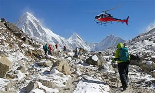 Travel insurance helicopter scams Nepal Mount Everest New York Times