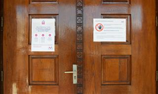 court room doors