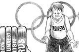 Business Insurance Roger Schillerstrom cartoon Rio Olympics