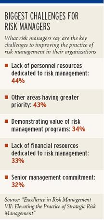 Risk managers struggle with too few staff: Report