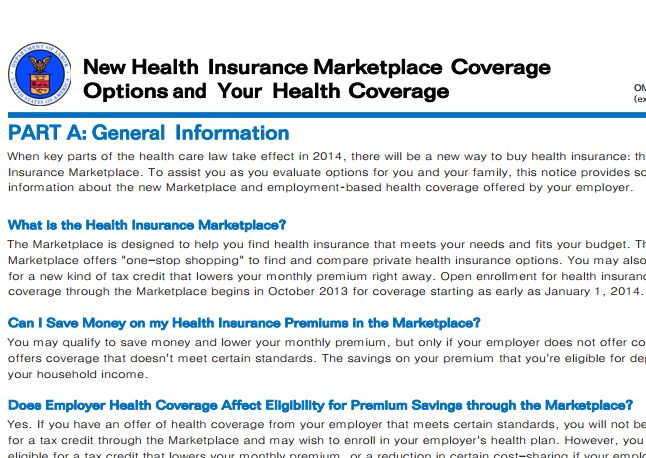 Most large employers plan to notify workers of health exchange options