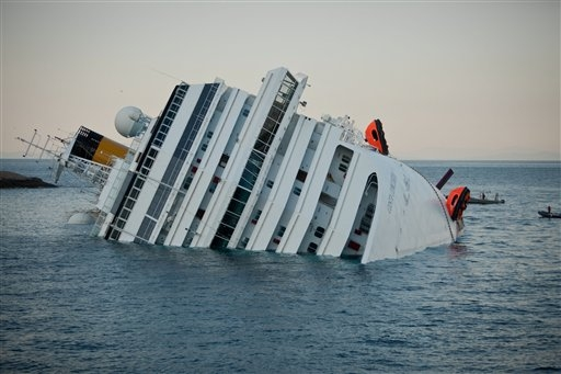 Insurance claims could top $1 billion in cruise ship accident off Italy