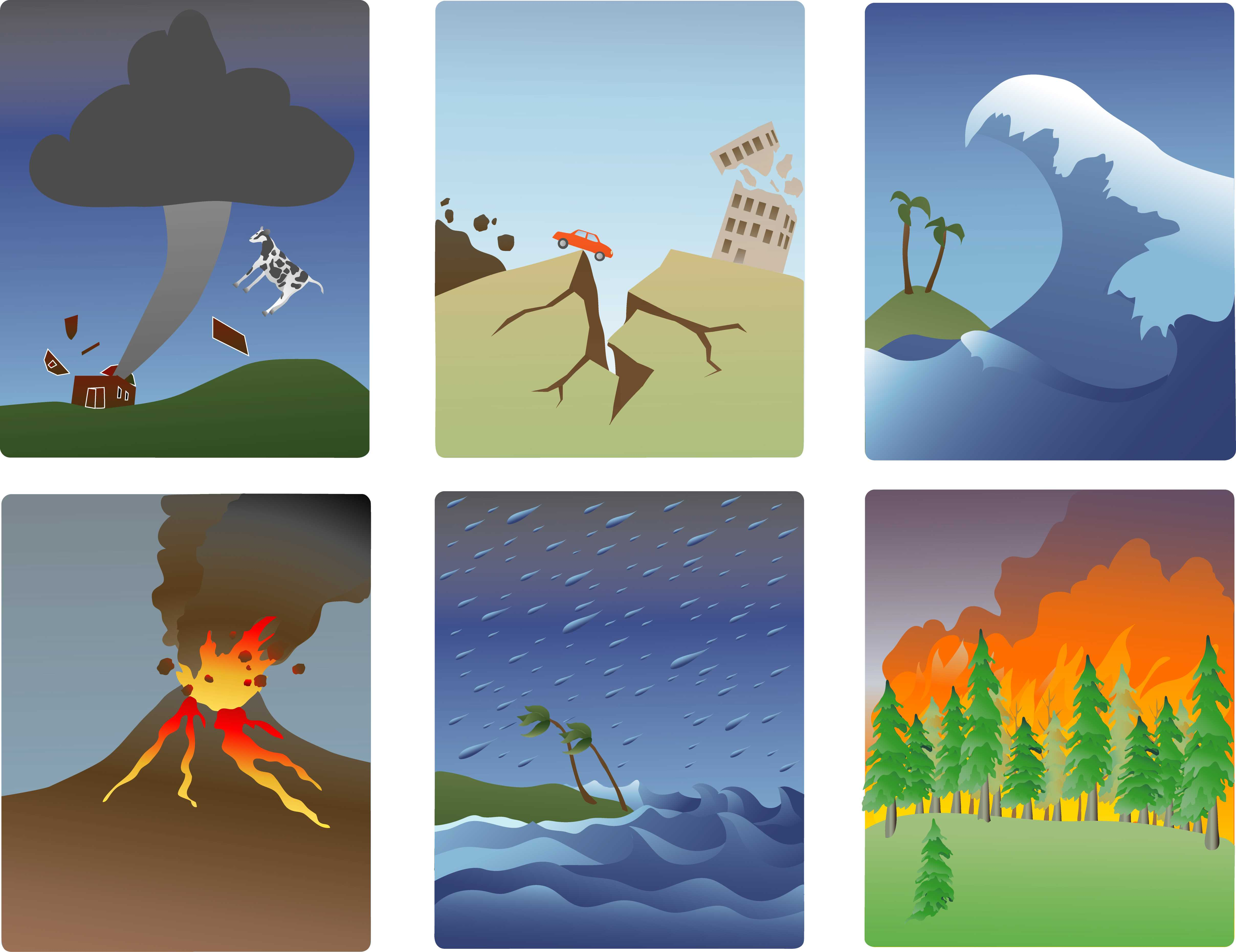 постеры стихийных бедствий