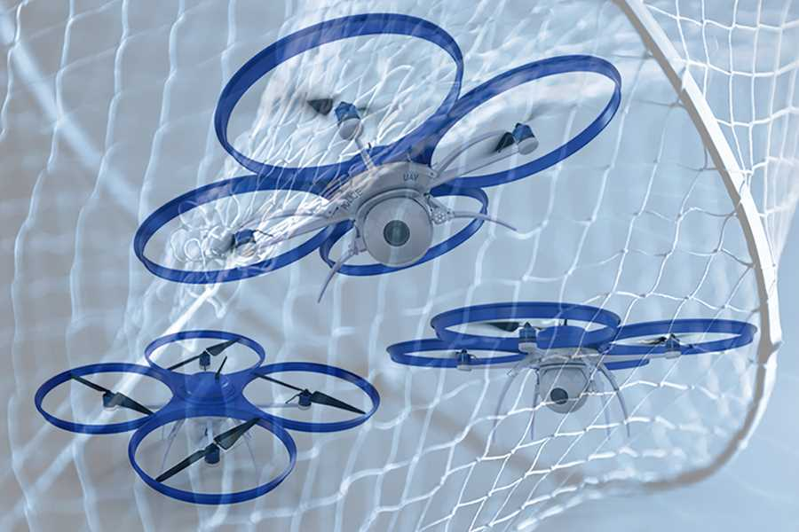 Fighting drone risks with drone dragnets