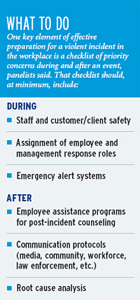 Limiting impact of workplace violence