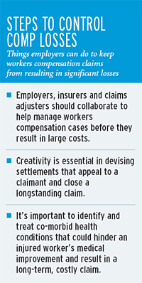 Teamwork aids resolution of tough workers comp claims