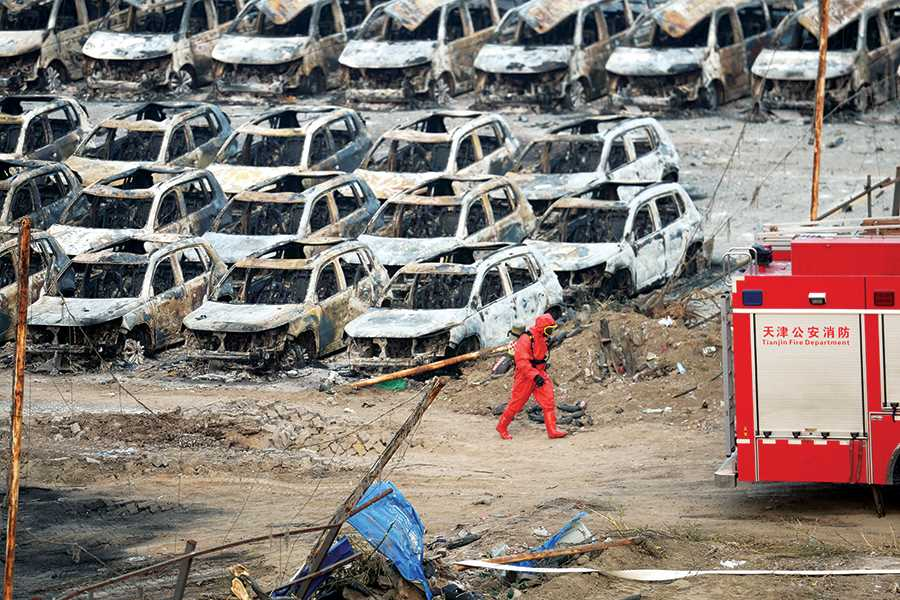 Tianjin blast rocks insurer balance sheets