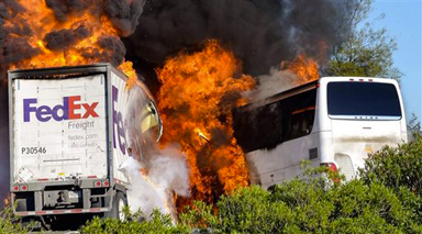 FedEx has $5M in primary coverage for deadly California truck-bus crash