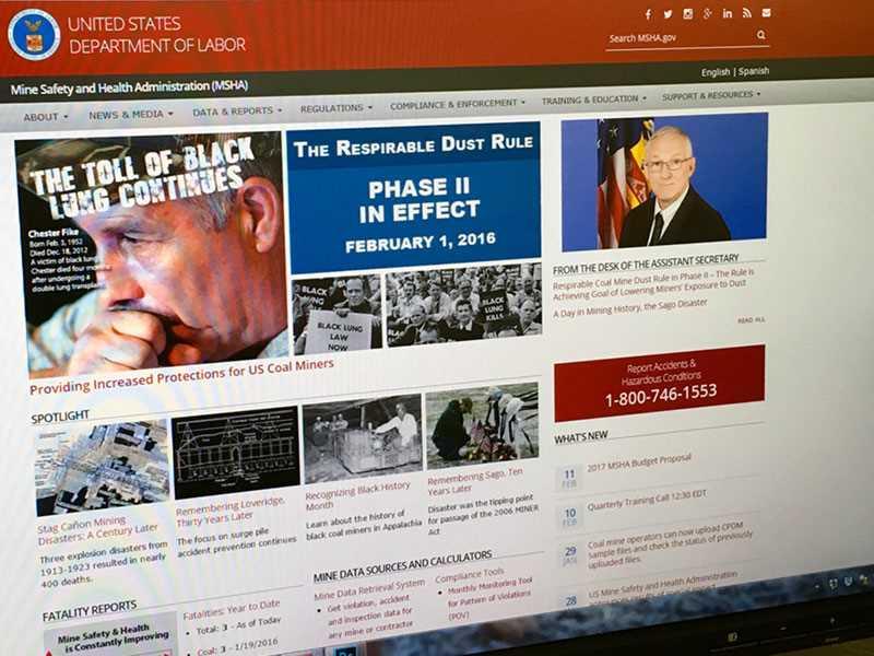 Revamped mine safety website a work in progress