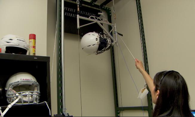 Purdue looks to improve football helmet sensors, lower risk