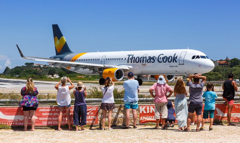 Thomas Cook plane in Greece
