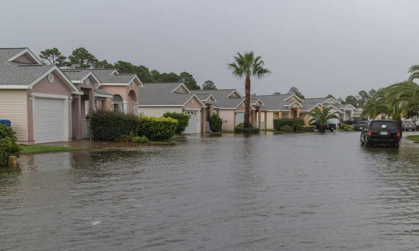 Flooding after hurricane