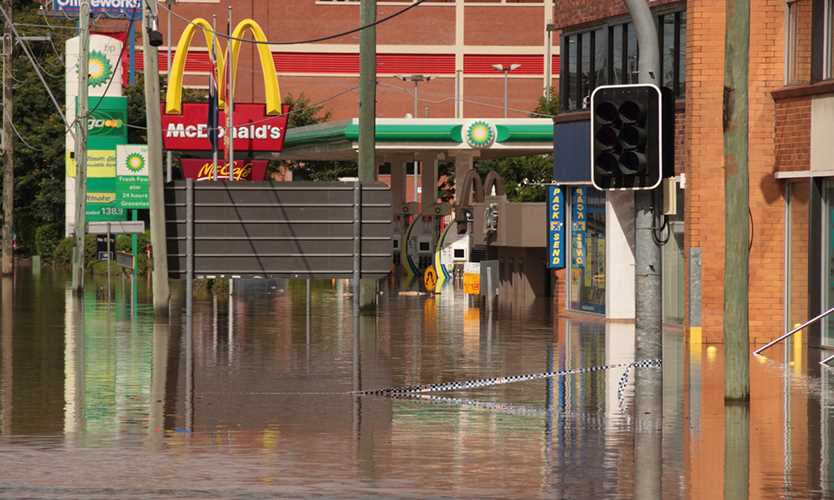 Businesses affected by Queensland, Australia, flooding