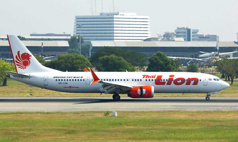 Lion Air Boeing MAX 9 airplane at Bangkok airport