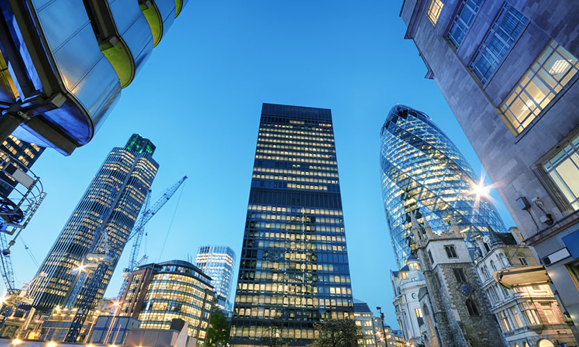 London banking district