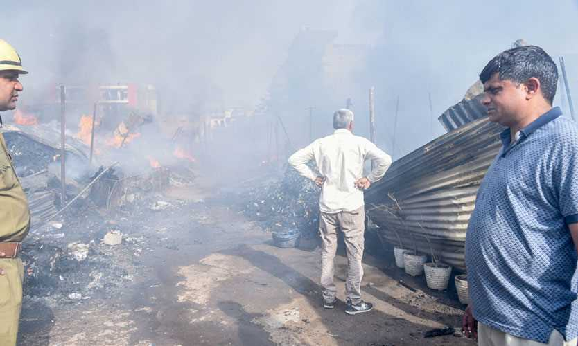 Factory fire, Delhi, India