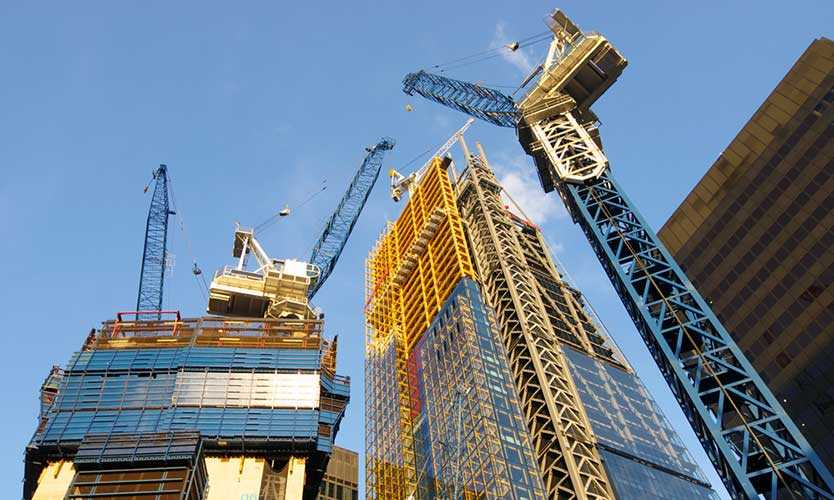 London construction crane
