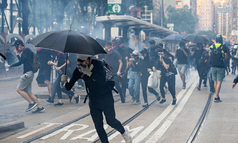 Hong Kong protests on Chinese National Day
