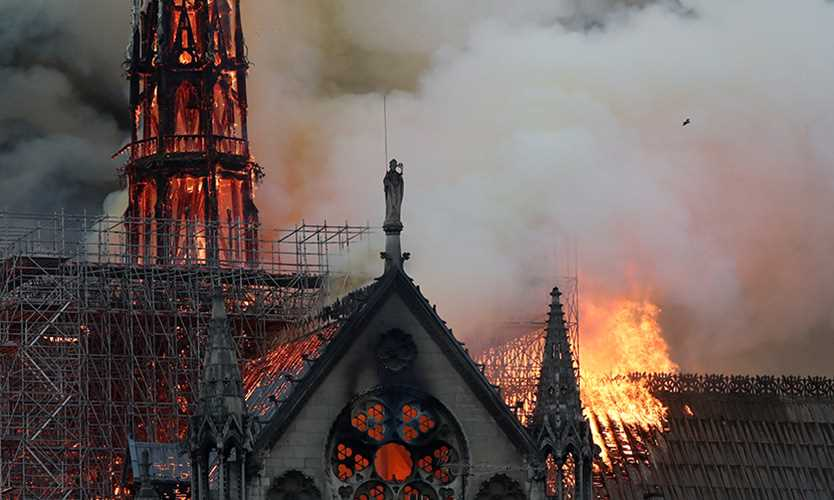 Notre Dame Cathedral burns