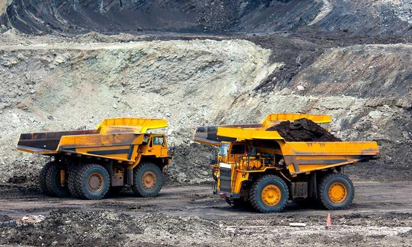 Coal dump trucks