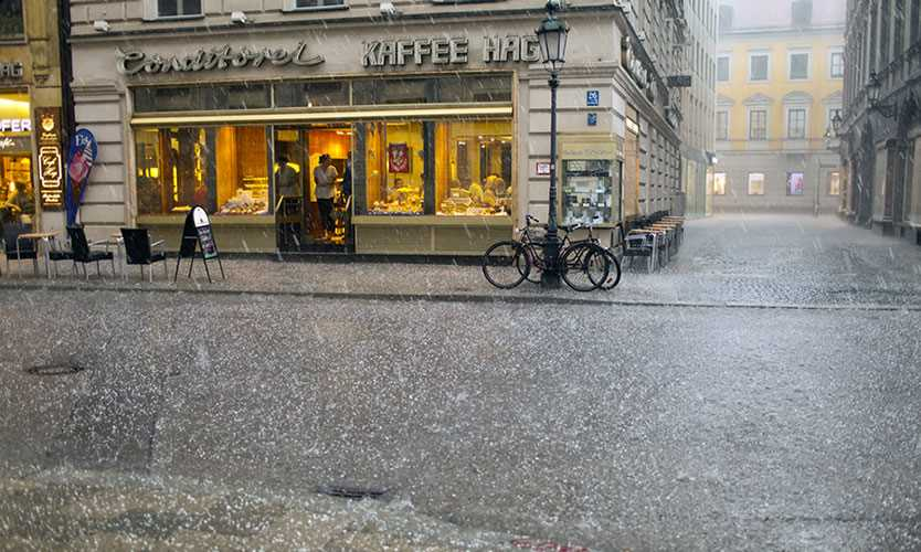 Hailstorm in Munich, Germany