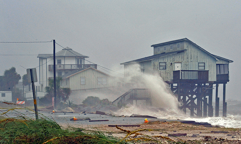 Hurricane Michael hits Alligator Point in 2018