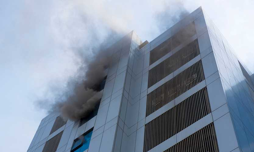 High rise fire in Mumbai