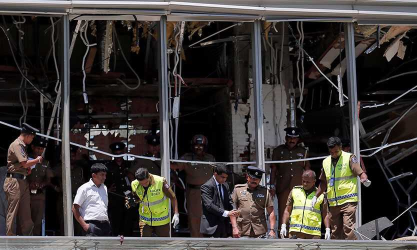 Hotel Shangri La, Sri Lanka, after Easter bombing