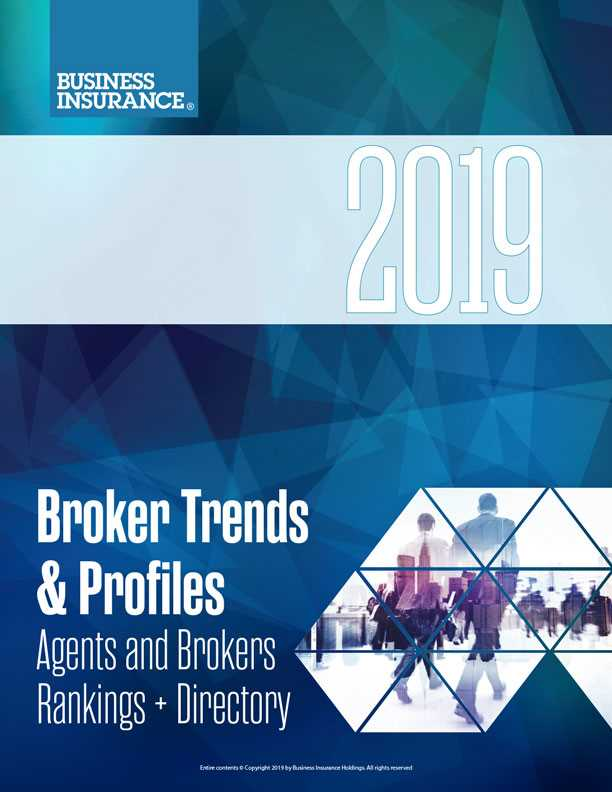 2019 Agents And Brokers Rankings Directory Business Insurance