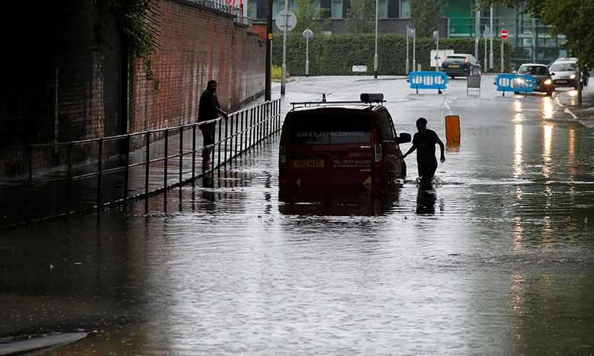 Flooding in Manchester, England