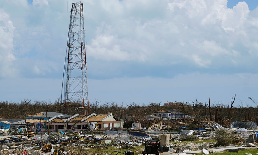 Damage in the aftermath of Hurricane Dorian on the Great Abaco island town of Marsh Harbour, Bahamas