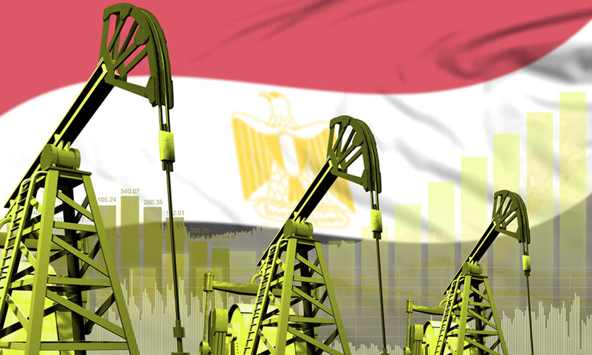 Egyptian oil wells