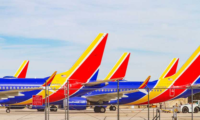 Grounded Southwest Boeing 737 MAX planes