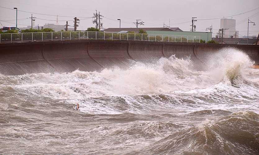 Typhoon Jebi strikes Japan