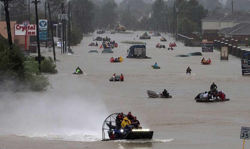 Harvey moves into Louisiana, rainfall continues