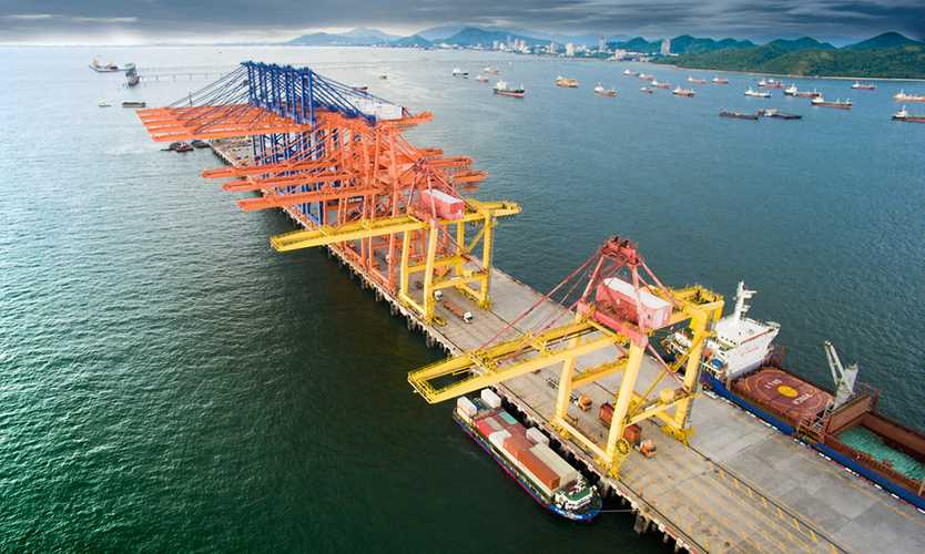 Port of Laem Chabang in Thailand