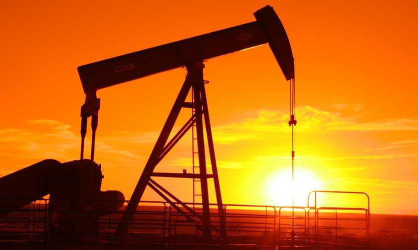 Middle East oil field pump jack