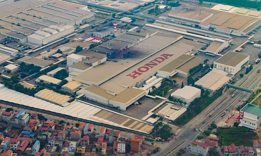 Honda factory in Vietnam