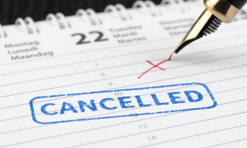 cancelled calendar event