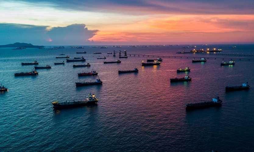 Oil tanker ships