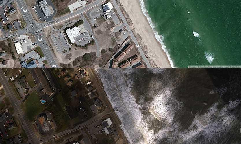 Hurricane Matthew damage in Kitty Hawk NC